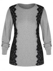 Plus Size Lace Trim Tee -