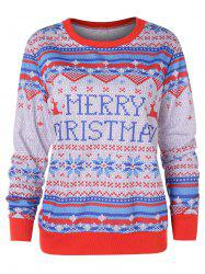 Christmas Letter Jacquard Sweater -