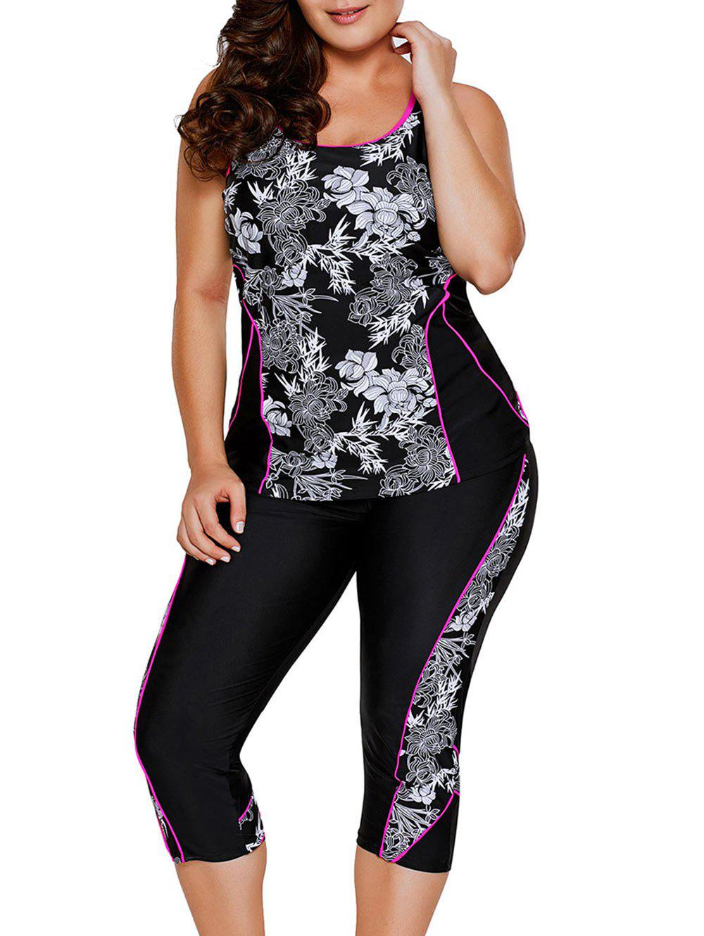 Shops Plus Size Floral Print Tankini Set