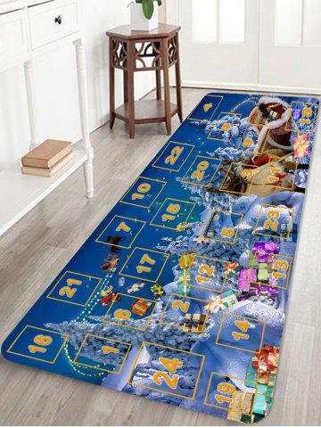 Christmas Forest Numbers Pattern Anti-skid Area Rug - MULTI - W24 X L71 INCH