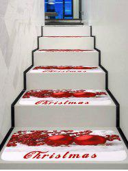 Christmas Red Balls Print Stair Rugs -