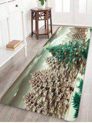 Christmas Tree Forest Print Flannel Area Rugs -