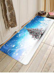 Christmas Tree in Snow Print Area Rugs -