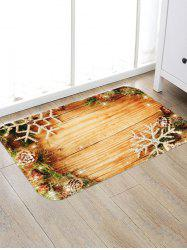 Christmas Wood Board Pattern Anti-skid Area Rug -
