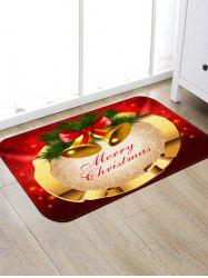 Merry Christmas Bells Pattern Anti-skid Area Rug -