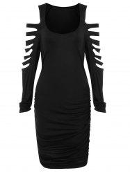 Ladder Cut Out Ruched Mini Dress -