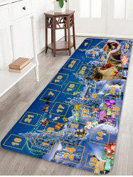 Christmas Forest Numbers Pattern Anti-skid Area Rug -
