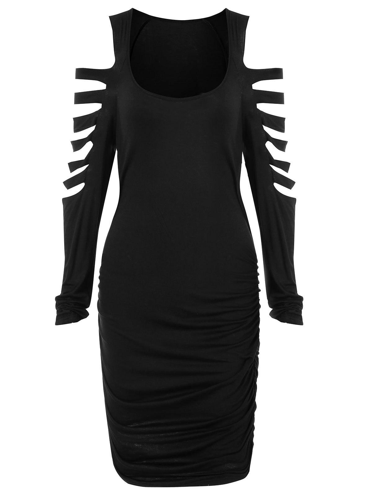 Hot Ladder Cut Out Ruched Mini Dress