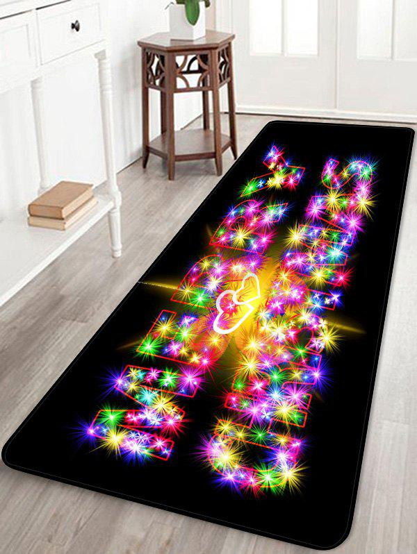 Affordable MERRY CHRISTMAS Pattern Anti-skid Area Rug