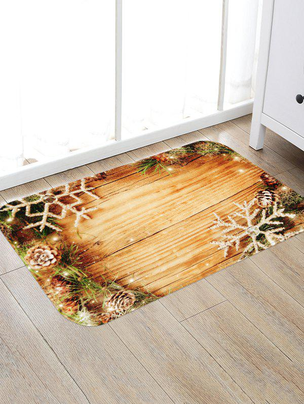 Chic Christmas Wood Board Pattern Anti-skid Area Rug
