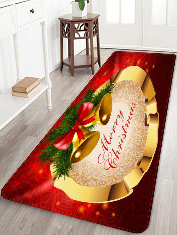 Affordable Merry Christmas Bells Pattern Anti-skid Area Rug