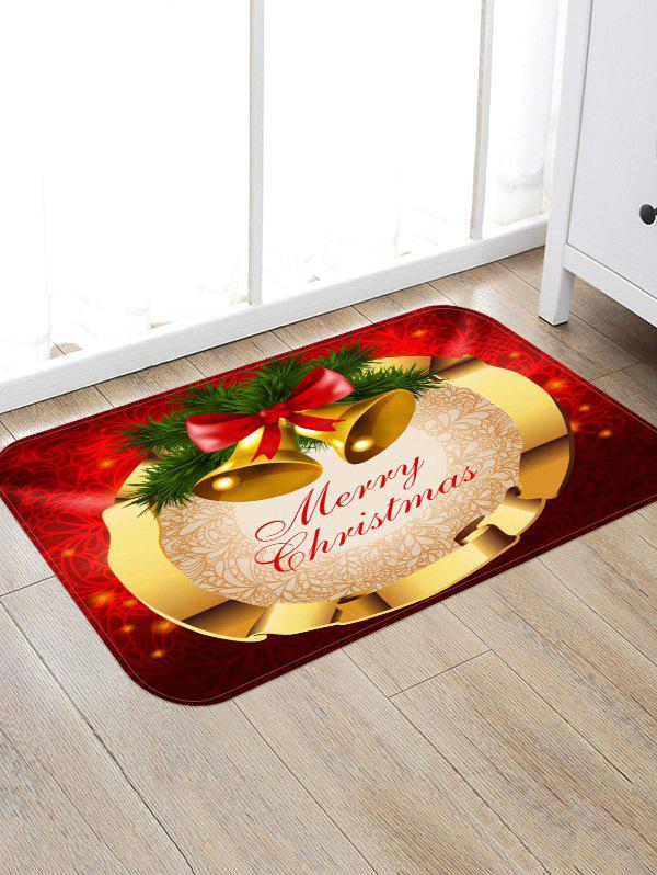 Unique Merry Christmas Bells Pattern Anti-skid Area Rug
