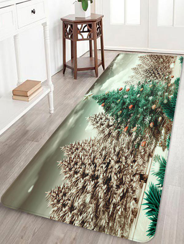 Shop Christmas Tree Forest Print Flannel Area Rugs