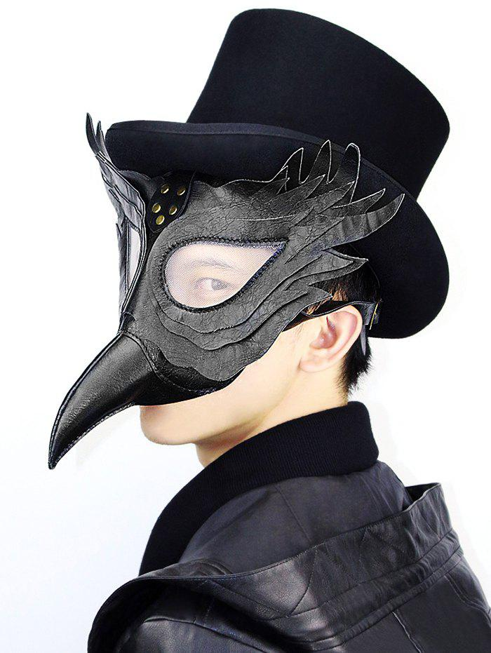 Outfits Halloween Cosplay Bird Faux Leather Mask