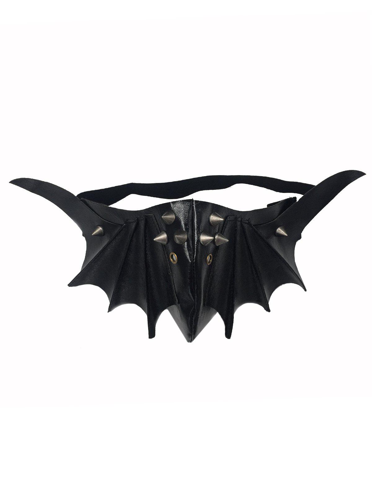Hot Halloween Cosplay Faux Leather Steampunk Bat Mask