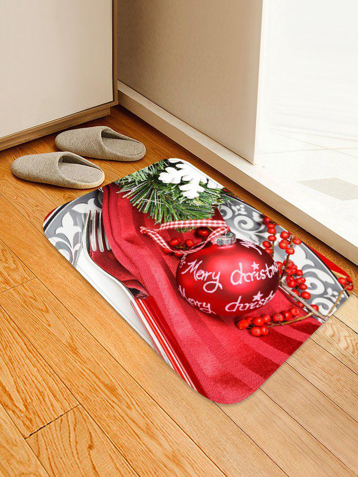 Christmas Ball Tableware Print Area Rugs
