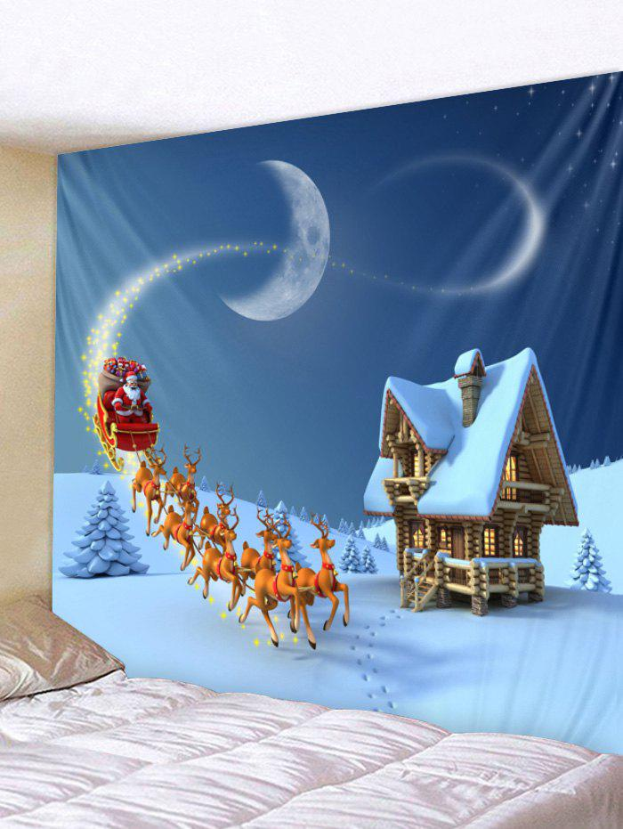 Outfit Christmas Santa Reindeer House Print Removable Wall Tapestry