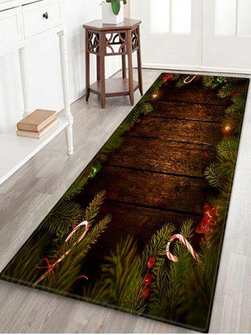 Christmas Tree Wood Pattern Anti-skid Area Rug