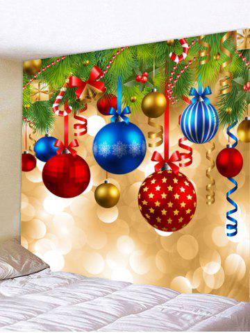 56 christmas ball print tapestry wall hanging decoration - Christmas Wall Hanging Decorations