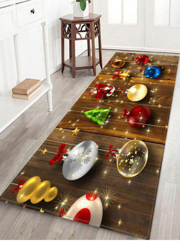 Christmas Decorations Wood Pattern Anti-skid Area Rug