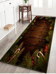 Christmas Tree Wood Pattern Anti-skid Area Rug -