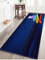Christmas Tree Stars Pattern Water Absorption Area Rug -