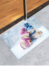 Christmas Snowman Lover Pattern Anti-skid Area Rug -