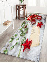 Christmas Stars Shoes Pattern Water Absorption Area Rug -