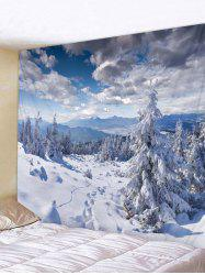 Snow Mountains Print Tapestry Wall Hanging Decoration -