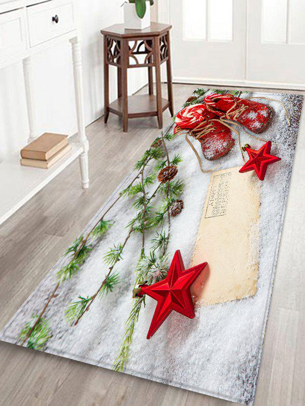 Buy Christmas Stars Shoes Pattern Water Absorption Area Rug