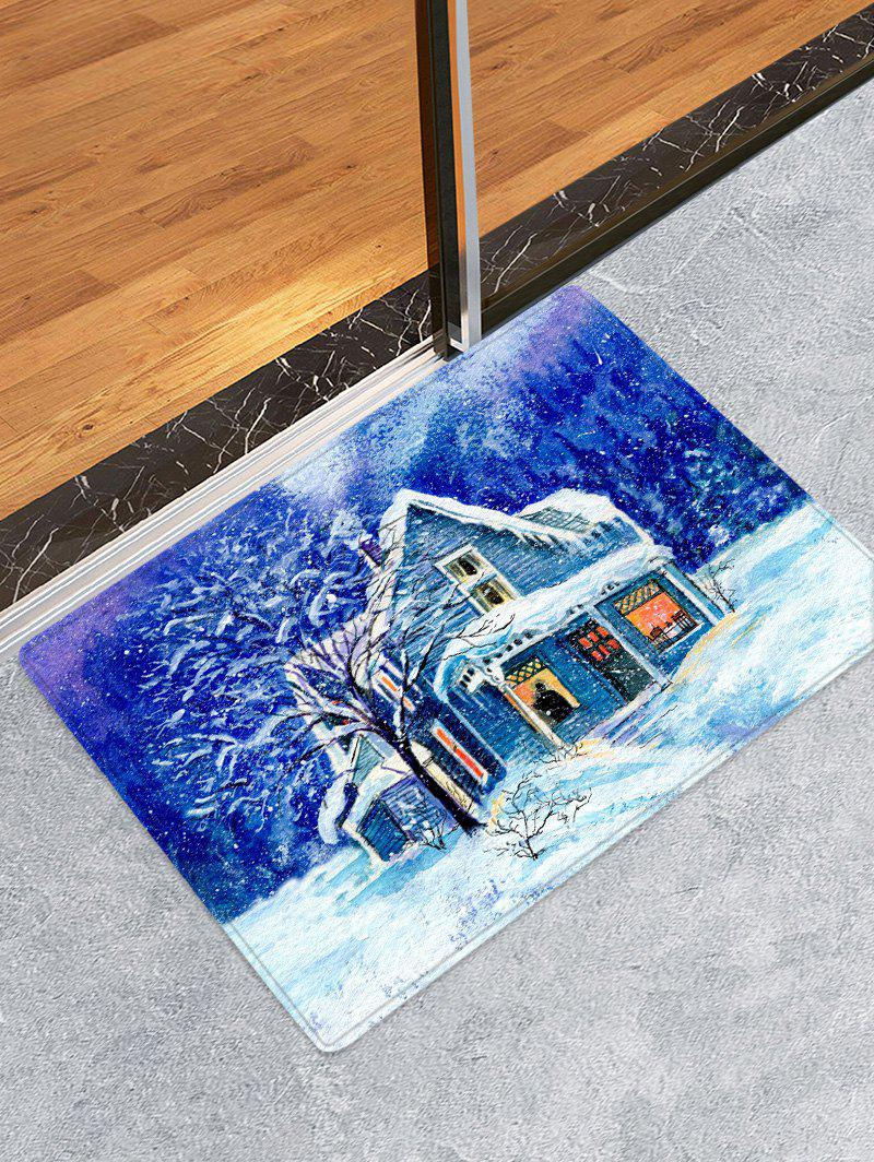 Store Christmas House Pattern Anti-skid Area Rug