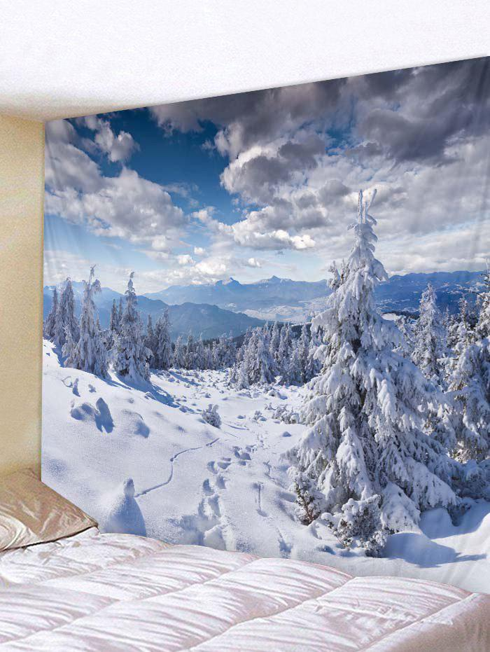 Shops Snow Mountains Print Tapestry Wall Hanging Decoration