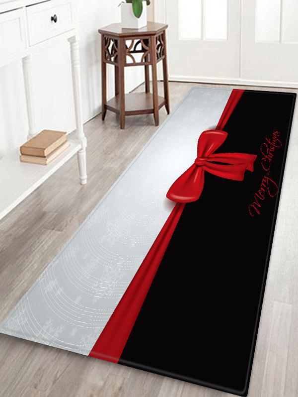 Discount Christmas Bowknot Pattern Anti-skid Area Rug