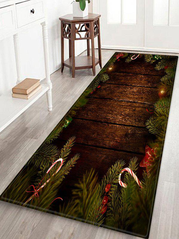 Cheap Christmas Tree Wood Pattern Anti-skid Area Rug