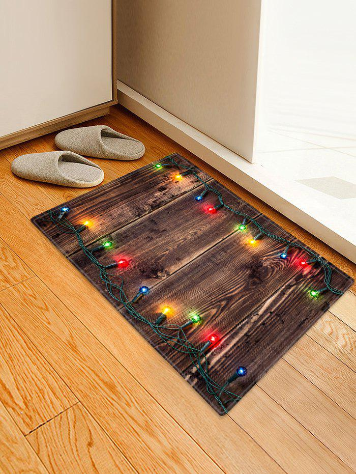 Outfits Christmas Light Wood Pattern Anti-skid Area Rug