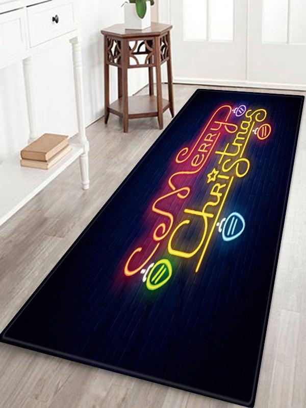 Affordable Merry Christmas Light Pattern Anti-skid Area Rug