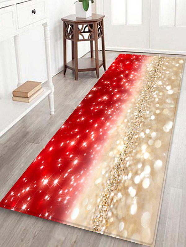 New Christmas Glitter Pattern Anti-skid Area Rug