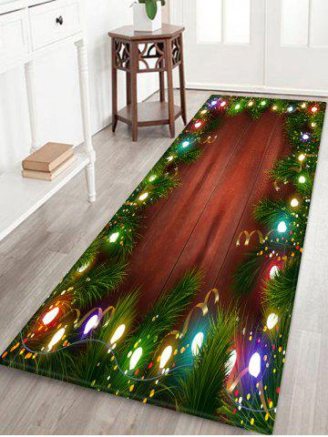 Christmas Lights Pattern Water Absorption Floor Rug - MULTI - W16 X L47 INCH