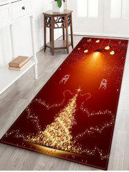 Christmas Deer Pattern Anti-skid Flannel Area Rug -