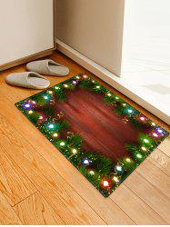 Christmas Lights Pattern Water Absorption Floor Rug -