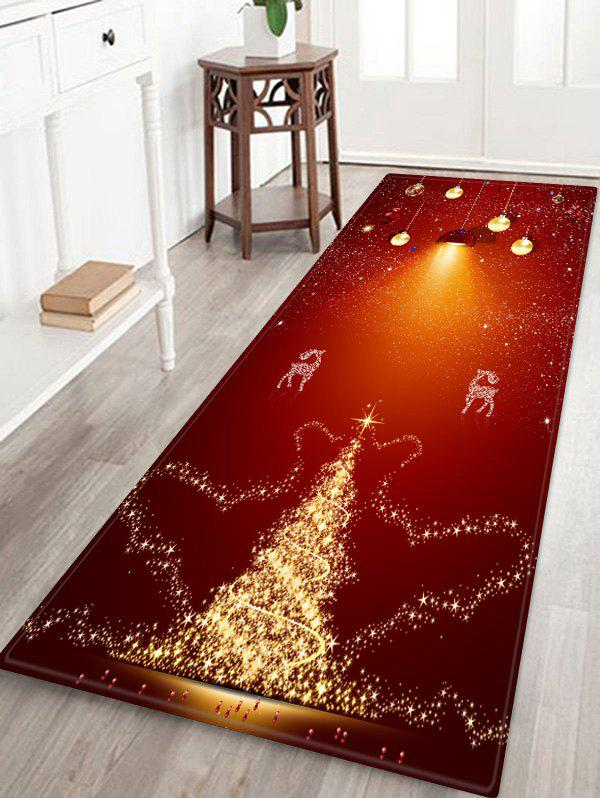 Shop Christmas Deer Pattern Anti-skid Flannel Area Rug