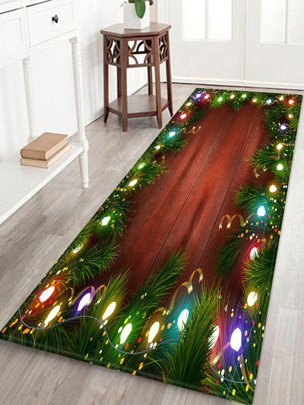 Fashion Christmas Lights Pattern Water Absorption Floor Rug