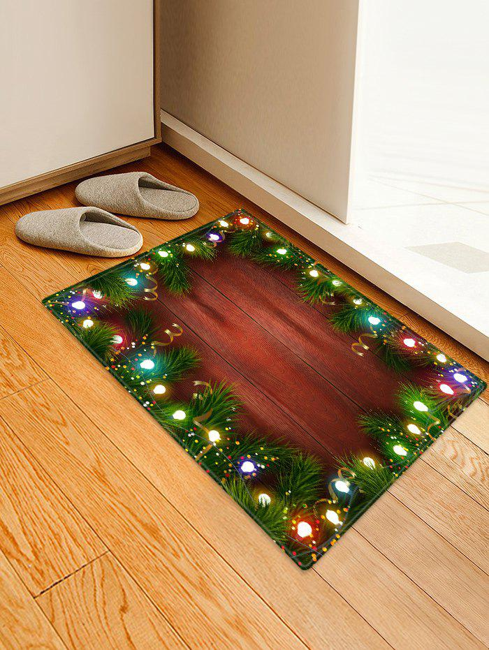 Online Christmas Lights Pattern Water Absorption Floor Rug