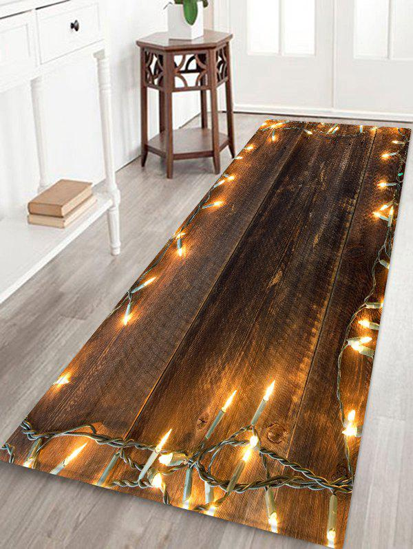 Latest Wood and Lights Pattern Water Absorption Floor Rug