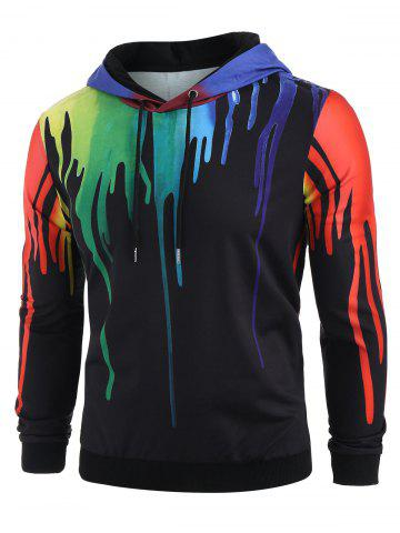 Colorful Splatter Paint Pattern Hoodie
