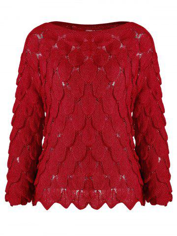 Boat Neck Knitted Sweater