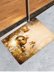 Christmas Bell Pattern Water Absorption Area Rug -