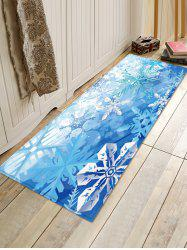 Christmas Snowflake Pattern Water Absorption Area Rug -