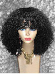Full Bang Medium Afro Kinky Curly Synthetic Wig -