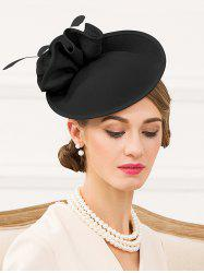 Elegant Floral Solid Color Pillbox Hat -